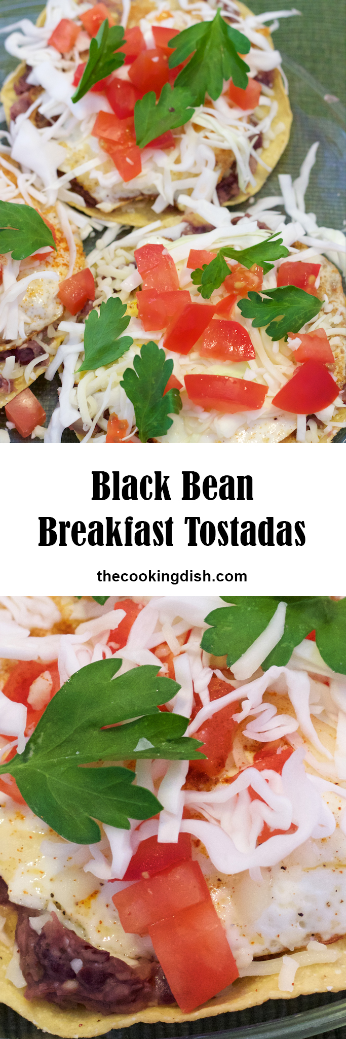 Black Bean Breakfast Tostadas are super fast and easy! And they're delicious!