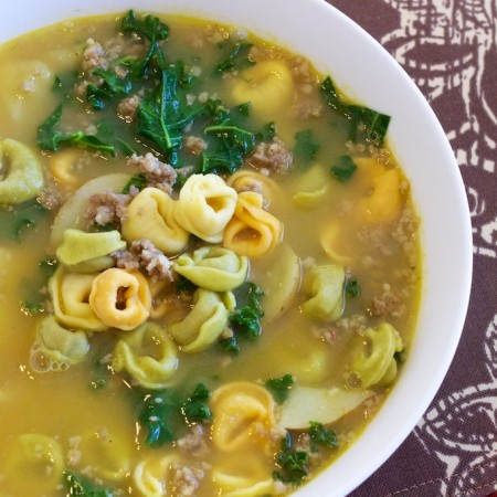 Potato Sausage Kale Soup with Tortellini Featured 01