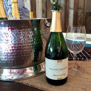 Almond Sparkling Wine from Wilson Vineyards