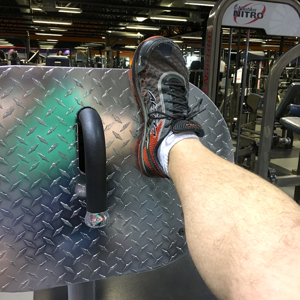 Altra shoes on leg day