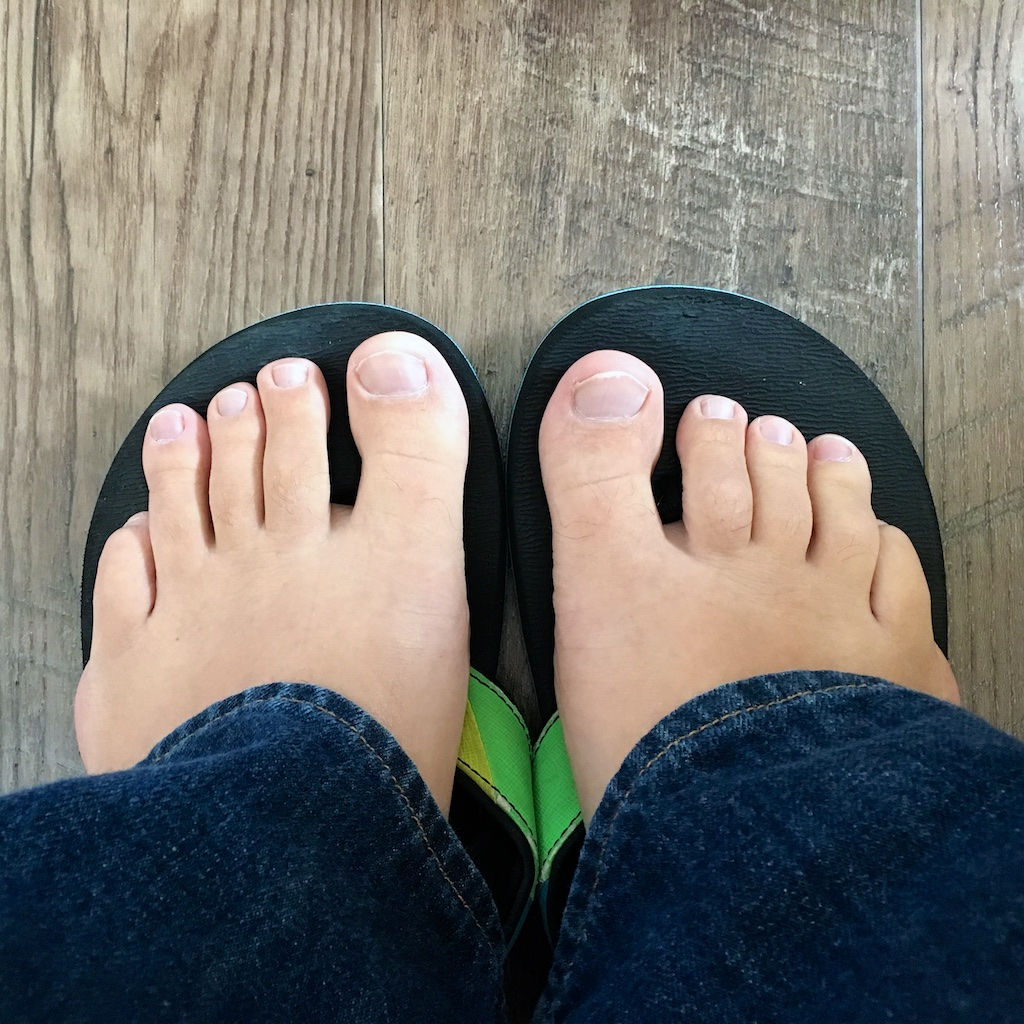 My toes, my toes, all of my toes